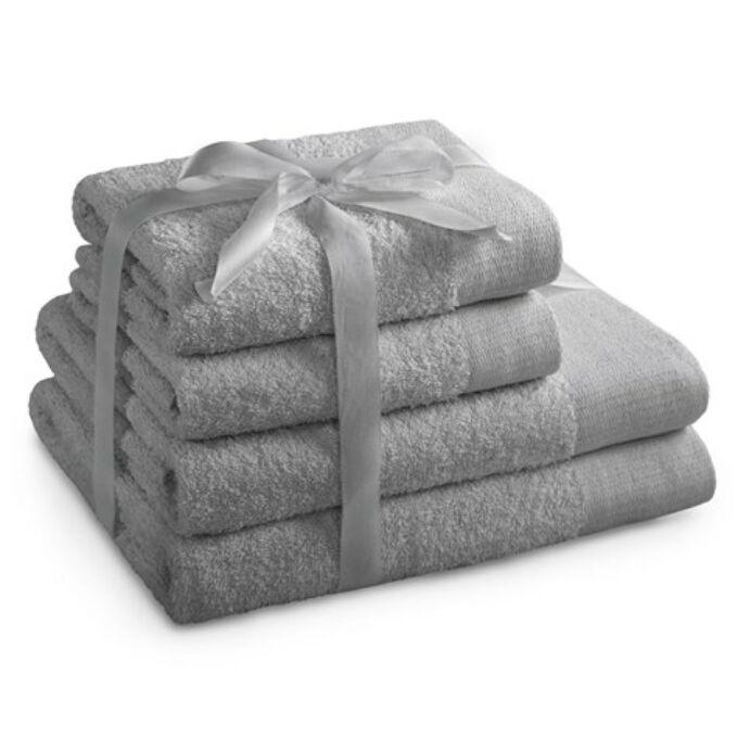Amari 100% pamut törölköző - 4 db-os szett (2 db 70*140 cm + 2 db 50*100 cm) - ezüst