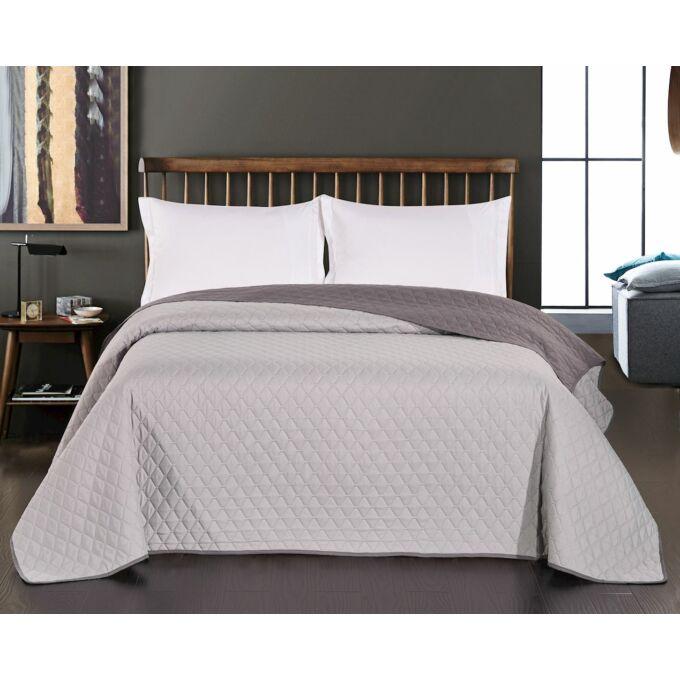 Axel ágytakaró - 170*210 cm - acél-ezüst, kétoldalas