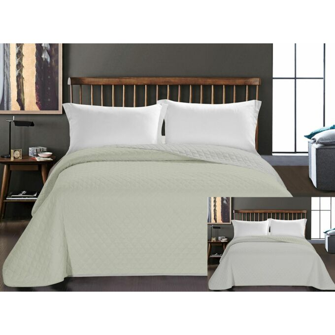 Axel ágytakaró - 170*210 cm - elefántcsont-ecrü, kétoldalas