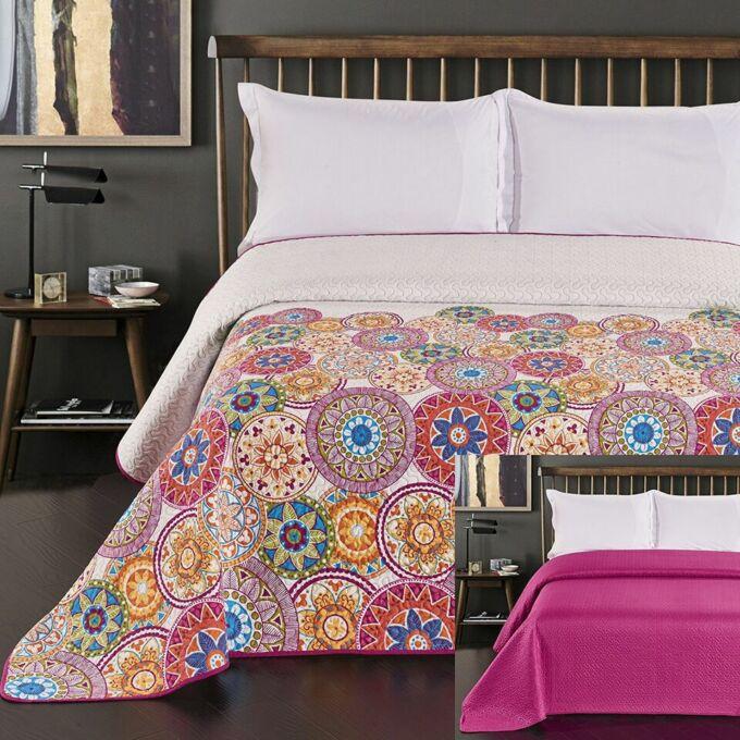 Bibi ágytakaró - 240*260 cm - kör mintás, kétoldalas
