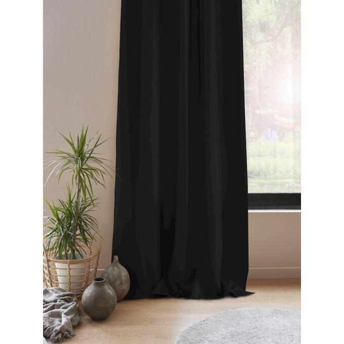 Blackout - készfüggöny - 140x175 cm - Fekete
