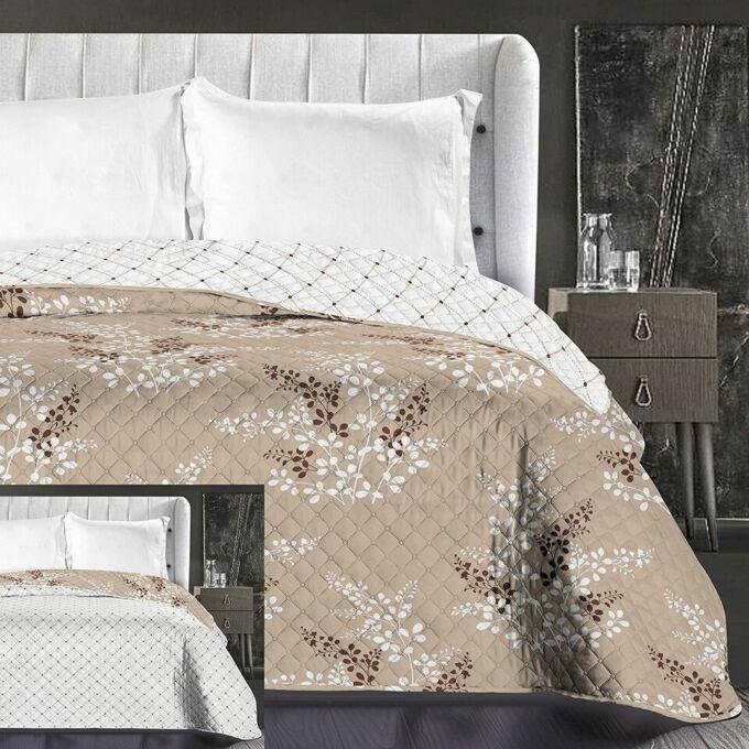 Calluna ágytakaró - 170*210 cm - barack-bézs, kétoldalas