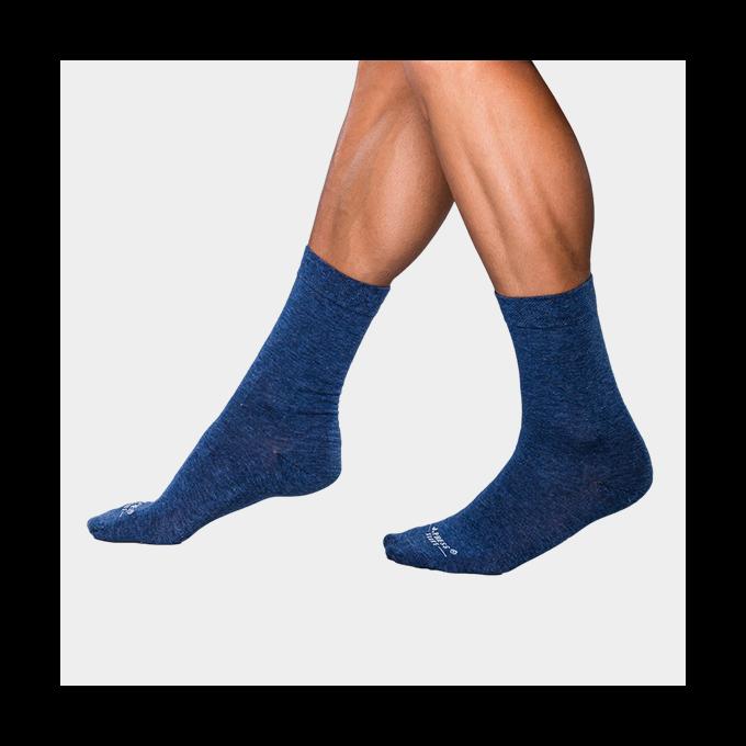 J.Press antibakteriális férfi zokni - 41-42 - sötétkék - D042 (öltönyhöz is)