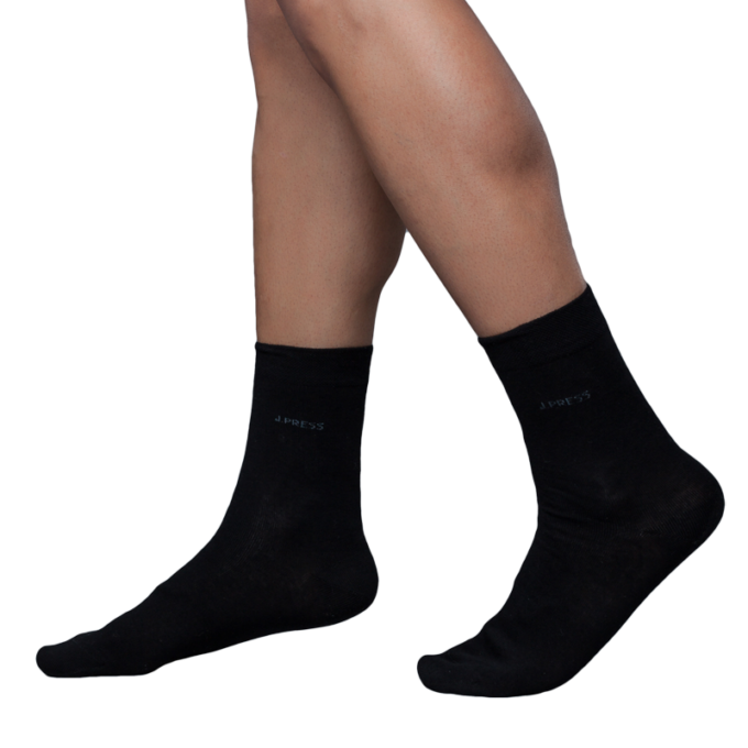 J.Press férfi zokni mindennapos viseletre - 41-42 - fekete - D050 (öltönyhöz is)