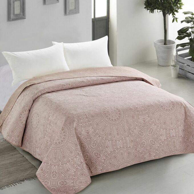 Decor ágytakaró - 220*240 cm - bézs, kétoldalas