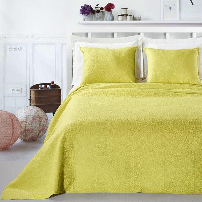 Elodie ágytakaró - 240*260 - lime zöld + 2 db díszpárna huzat (2*50*60)