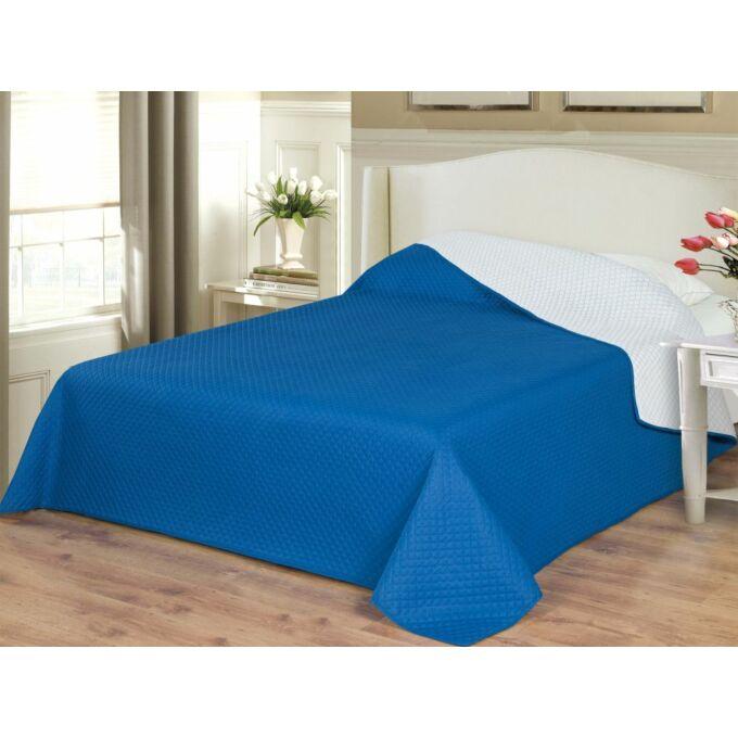 Naturtex Emily ágytakaró microfiber - kék-fehér- 235×250 cm