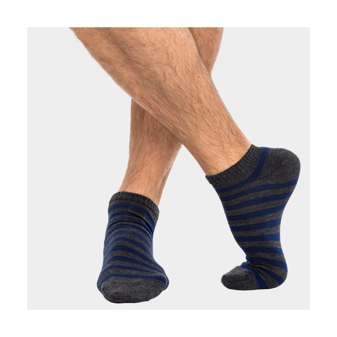 J.Press férfi titok zokni - 39-42 - sötétmelírszürke-sötétkék - MSS019