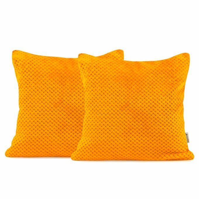 Henry díszpárna huzat - 45*45 cm - 2 darab / csomag - narancs