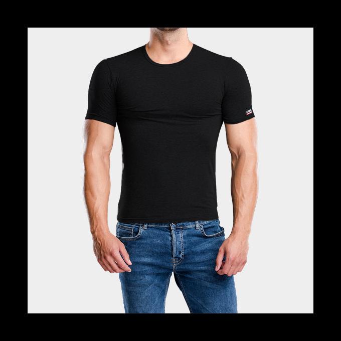 J.Press Férfi Alsó Póló Kerekített Kivágással - M - fekete