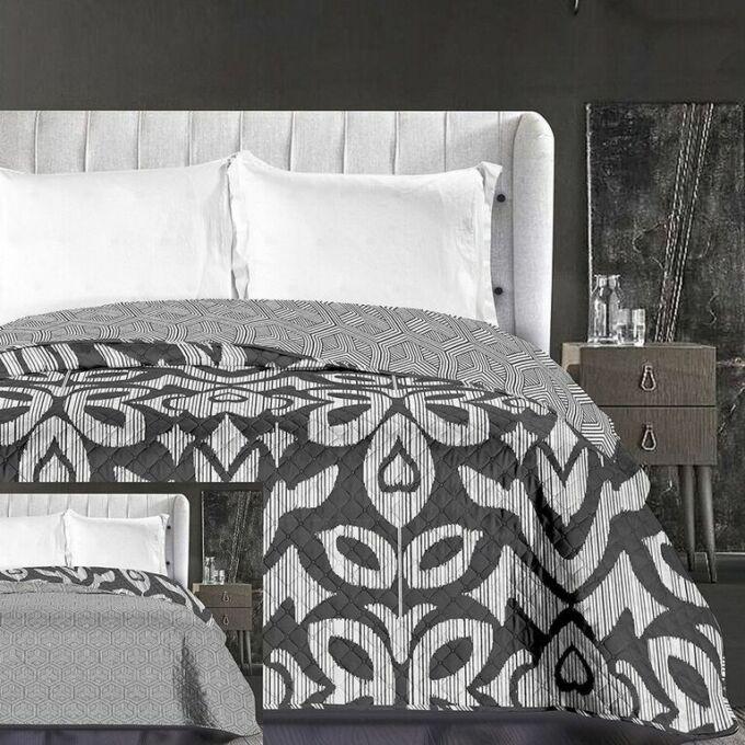 Mezmerize ágytakaró 170*210 cm - fekete-fehér, kétoldalas