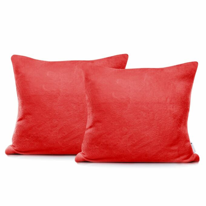 MIC díszpárna huzat - 45*45 cm - 2 darab / csomag - piros - extra puha