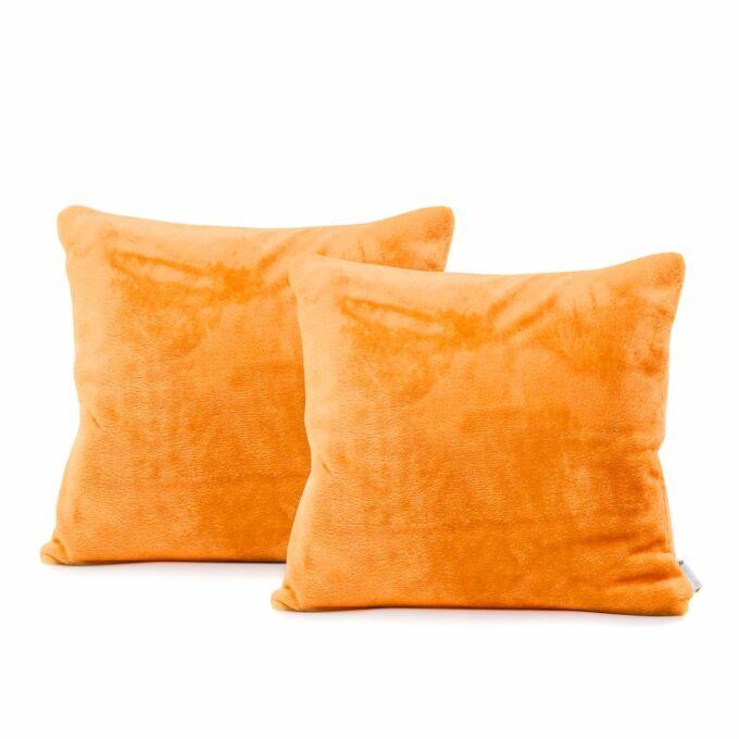MIC díszpárna huzat - 45*45 cm - 2 darab / csomag - narancs - extra puha