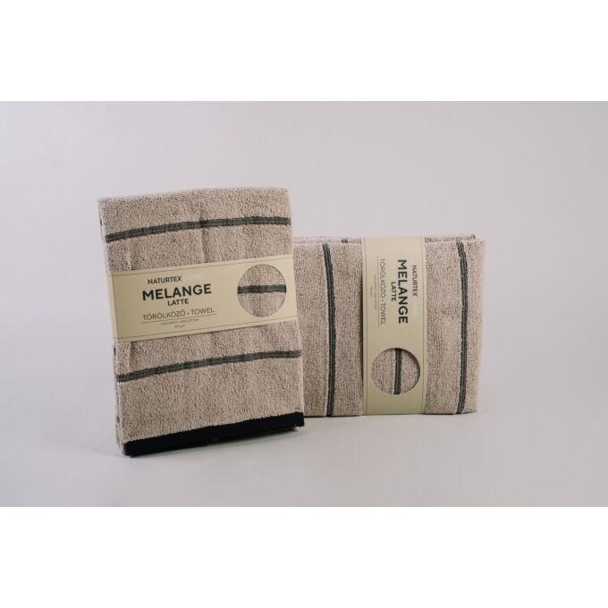 Naturtex Melange 100% pamut törölköző - latte - 50*100 cm