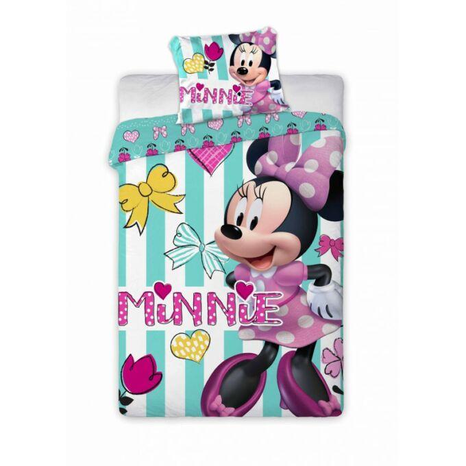 2 részes gyermek pamut Minnie egeres ágyneműhuzat