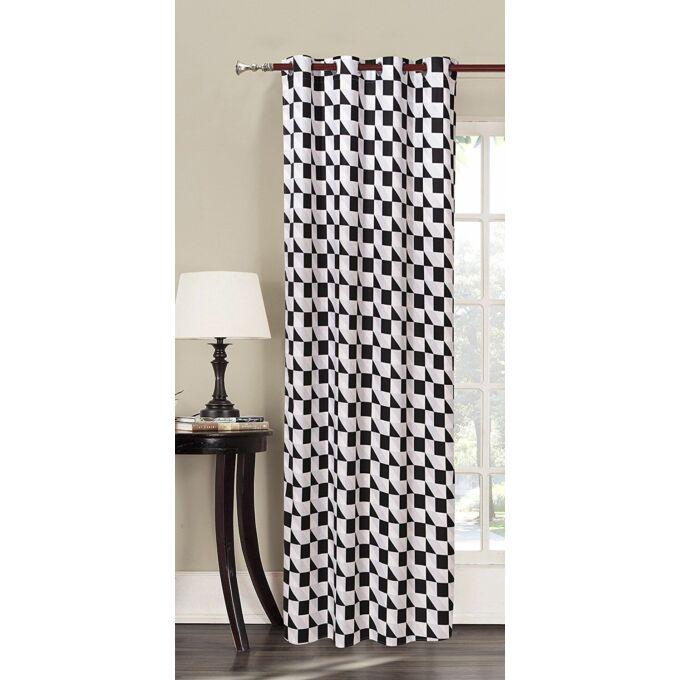 Mistery kész függöny - fehér mintás - 140*245 cm