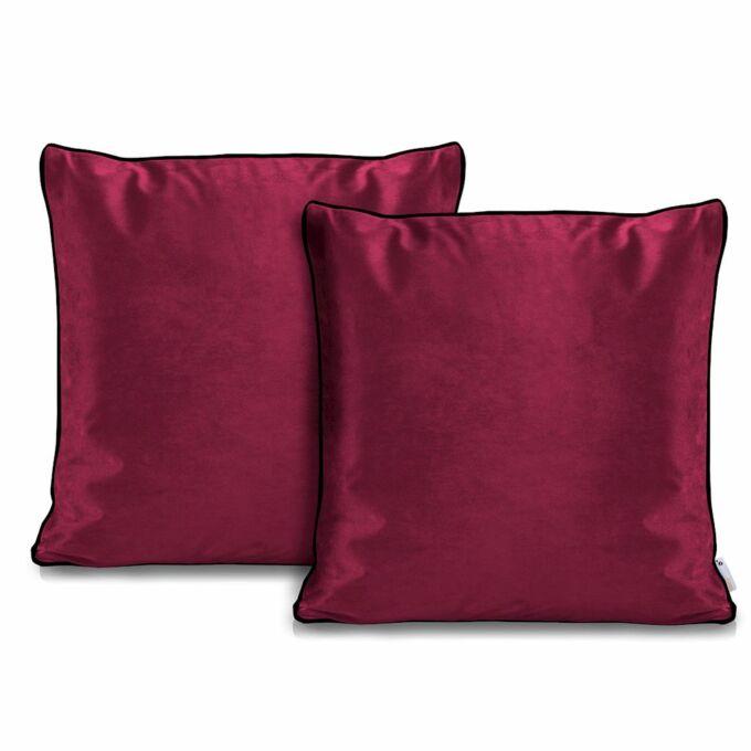 Rimavelvet pink díszpárna huzat - 45*45 cm - 2 darab / csomag - extra minőségű bársony