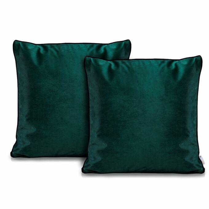 Rimavelvet zöld díszpárna huzat - 45*45 cm - 2 darab / csomag - extra minőségű bársony