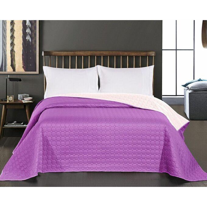 Salice ágytakaró - 220*240 cm - ibolyalila-halvány rózsaszín, kétoldalas