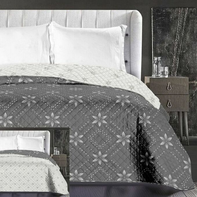 Snowynight ágytakaró - 240*260 cm - szürke-fehér, kétoldalas
