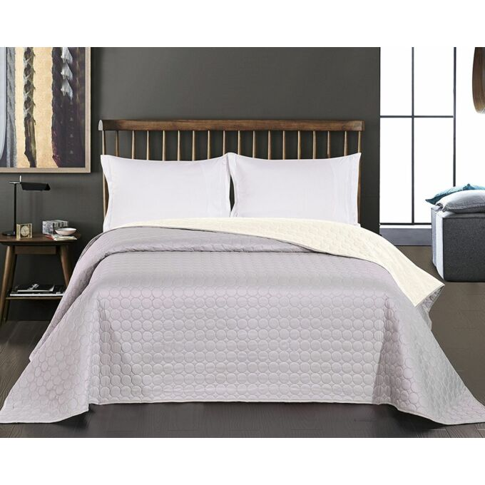 Salice ágytakaró - 220*240 cm - fehér-ezüst, kétoldalas