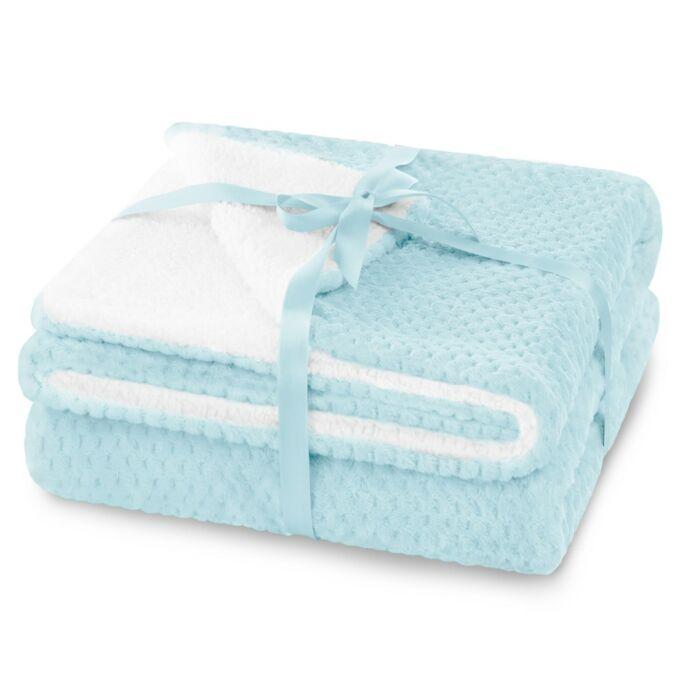 Shleepy meleg serpa takaró - 170*210 cm - babakék - két oldalas