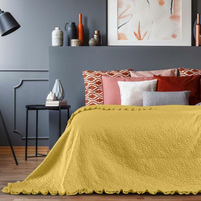 Tilia ágytakaró 220*240 cm - Méz - fodros