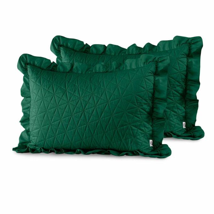 Tilia díszpárna huzat - 50*70 cm - 2 darab / csomag - Sötétzöld