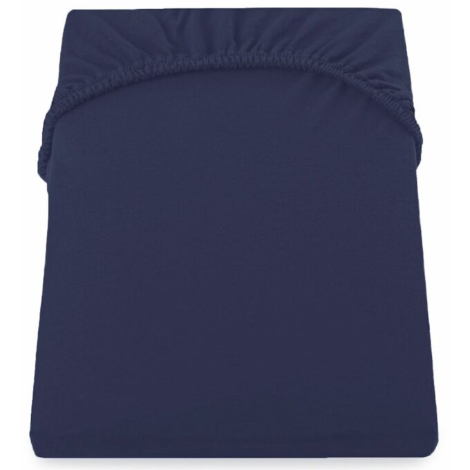 Amber pamut gumis lepedő - 200-220*200+30 - Navy kék