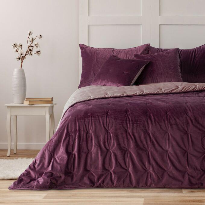 Daisy prémium ágytakaró - 200×220 cm - Mályva - kétoldalas