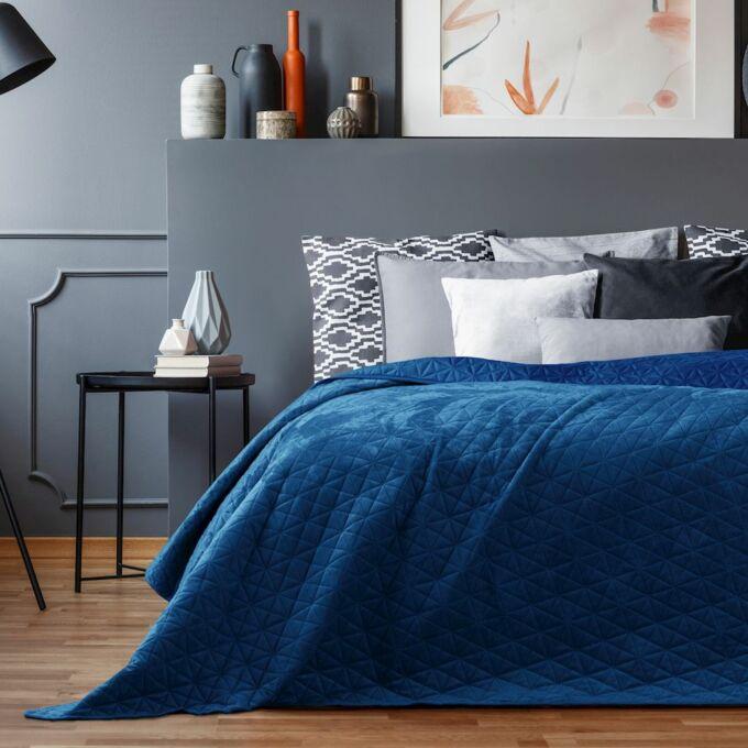 Laila ágytakaró - 170*210 cm - Királykék