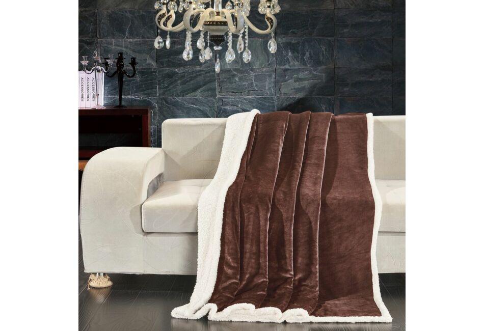 Kép 1 4 - Teddy meleg serpa takaró - 150 200 cm - barna - két oldalas 6bb19338fb